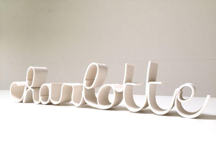 Image Porcelain text (per letter)