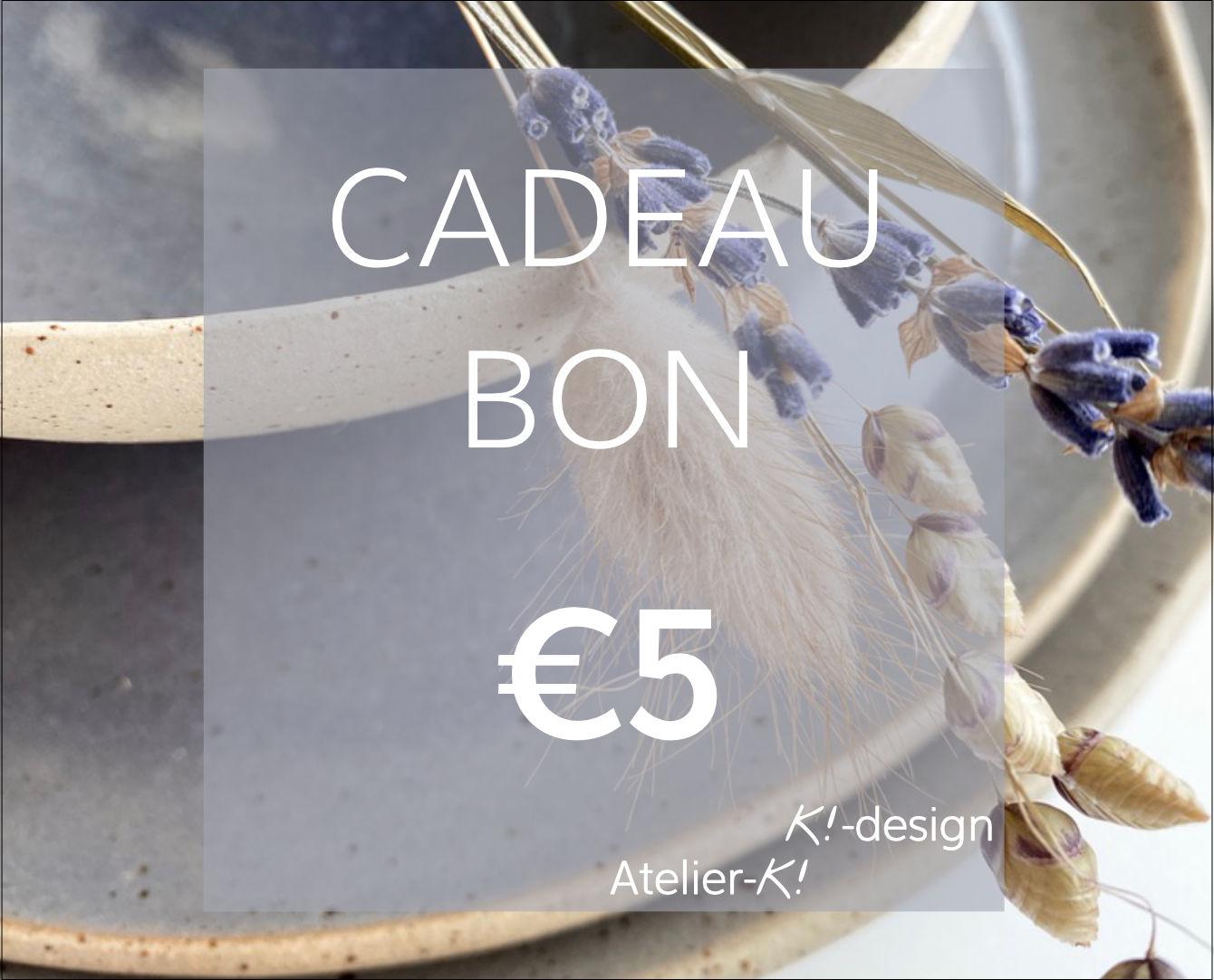 Image Cadeaubon €5